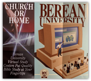 Berean University Brochure offering Online and Virtual Classes, 1997