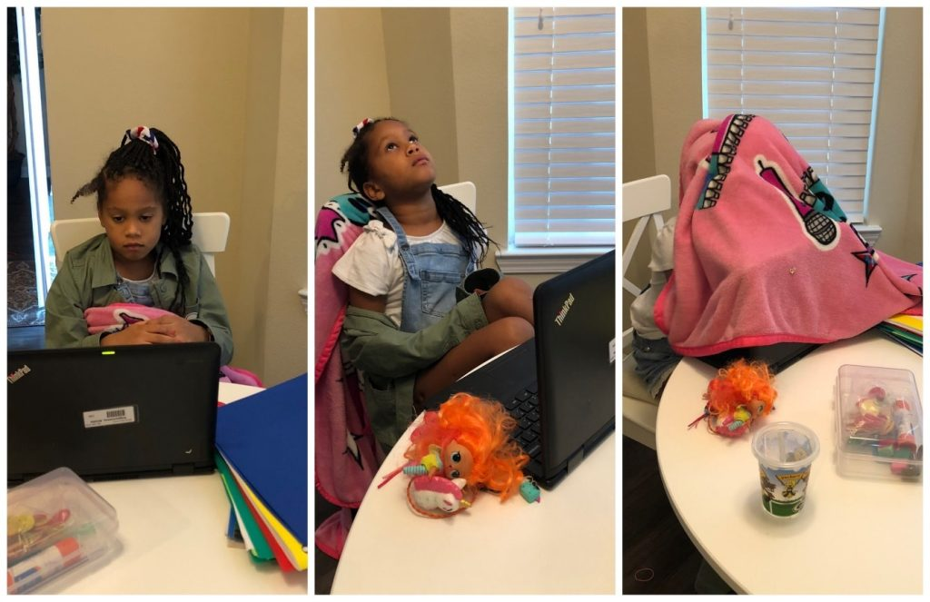Granddaughter going through the three stages of virtual grief with the best technology in the world.